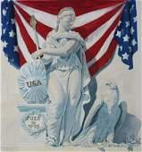 "Tom Lydon (B. 1944) ""America and Eagle"""