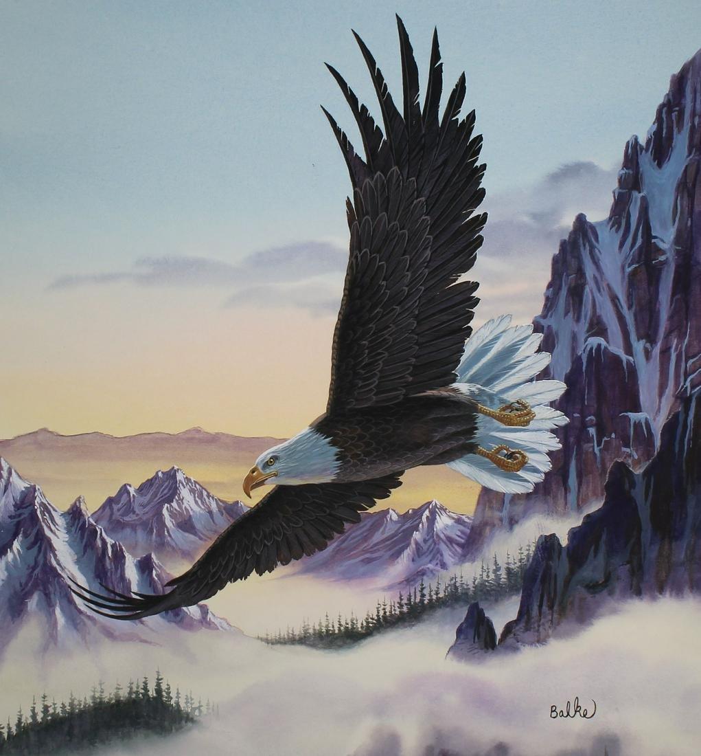 """Don Balke (North Carolina, B. 1933) """"Bald Eagle"""""""