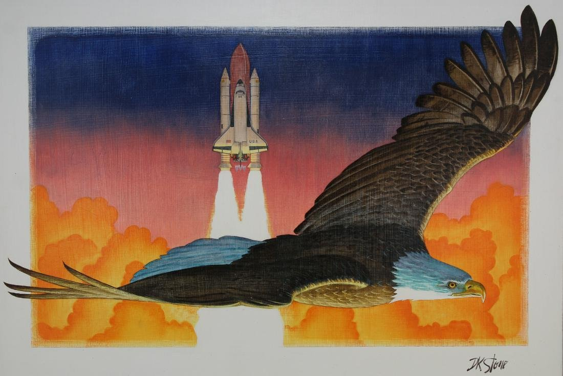 David K. Stone (1922 - 2001) Space Shuttle / Eagle