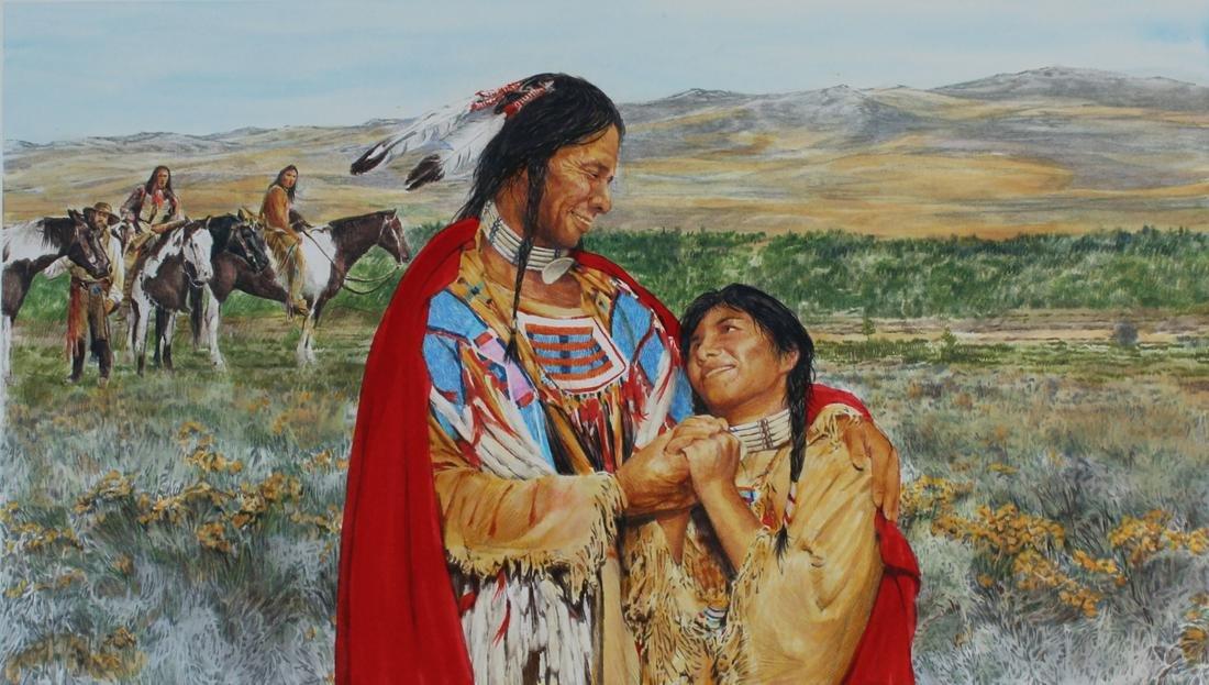 """Paul & Chris Calle """"Sacagawea and Brother Reunite"""""""