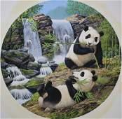 "Chuck Ripper (B. 1929) ""Pandas Eating"""