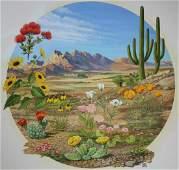 """Chuck Ripper (B. 1929) """"Desert Flowers"""""""