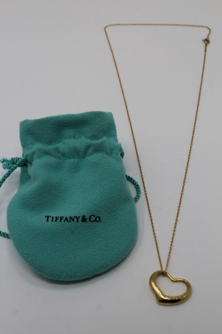 Tiffany & Co. Elsa Peretti 18k Gold Heart Necklace