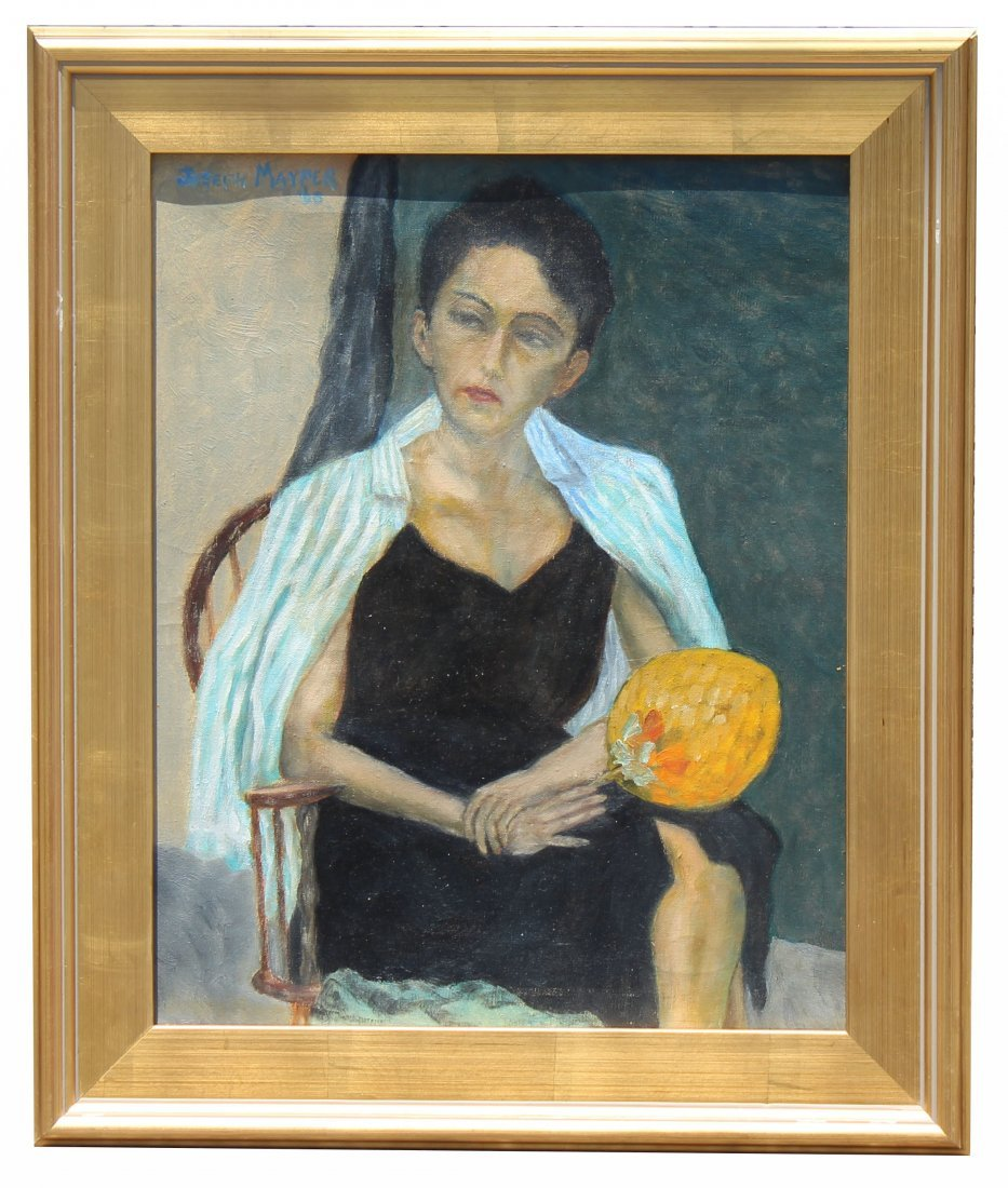 Joseph Mayper, 1968 Portrait of a Woman