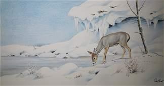 """Peter Barrett (British, B. 1935) """"Baby Deer"""""""
