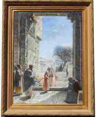 Monumental Orientalist Style Painting