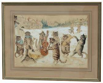 "Louis William Wain (1860 - 1939) ""Carol Singing"""