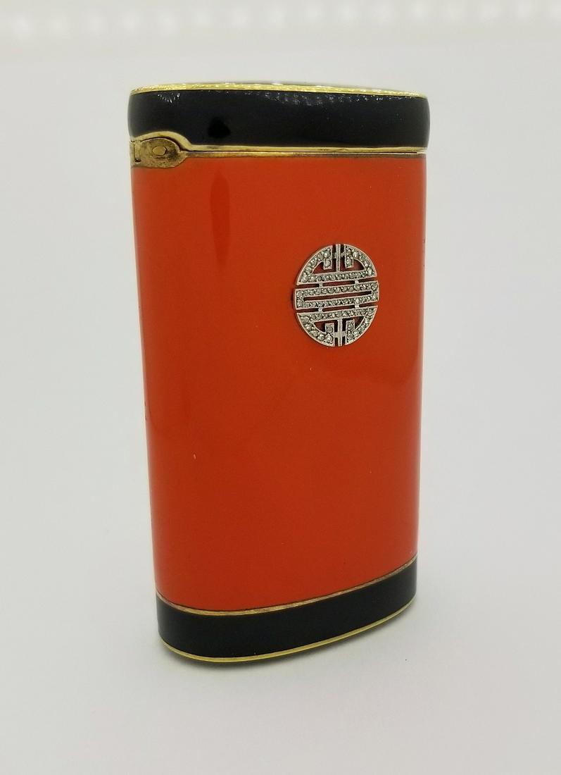 Tiffany, Art Deco Enamel/Diamond Set 14K Gold Case