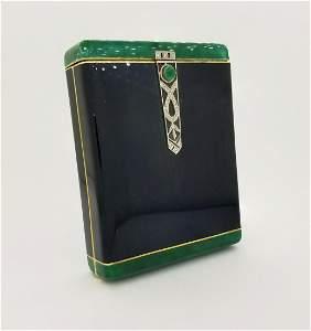 Cartier, Important Art Deco Enamel, Diamond Case