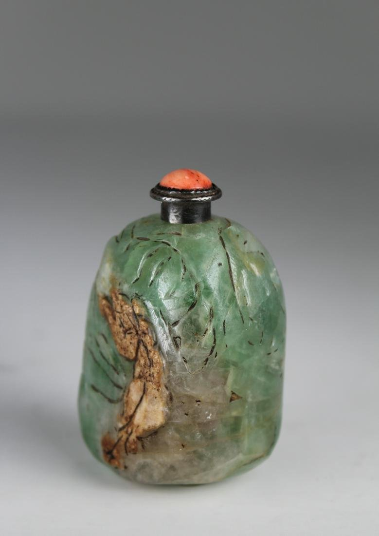 19th C. Chinese Carved Stone Snuff Bottle
