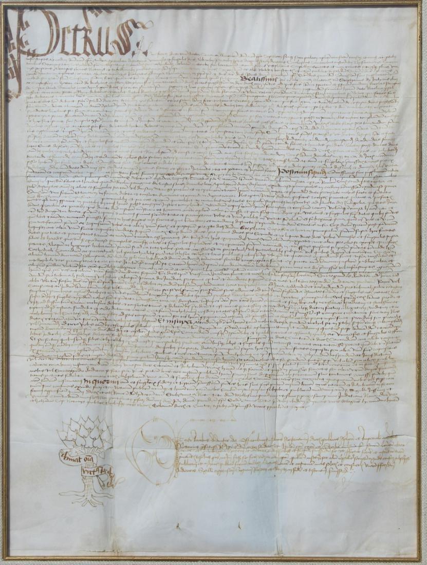 Original 1461 Italian Florentine Document