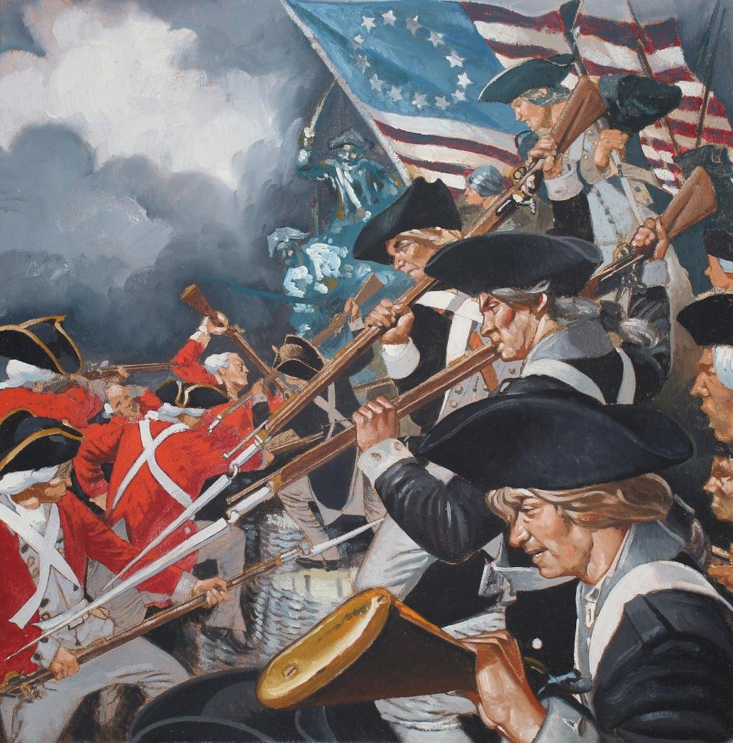 Jim Butcher (B. 1944) American Victory At Yorktown