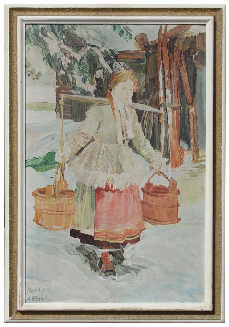 Signed, Russian School Painting of Woman