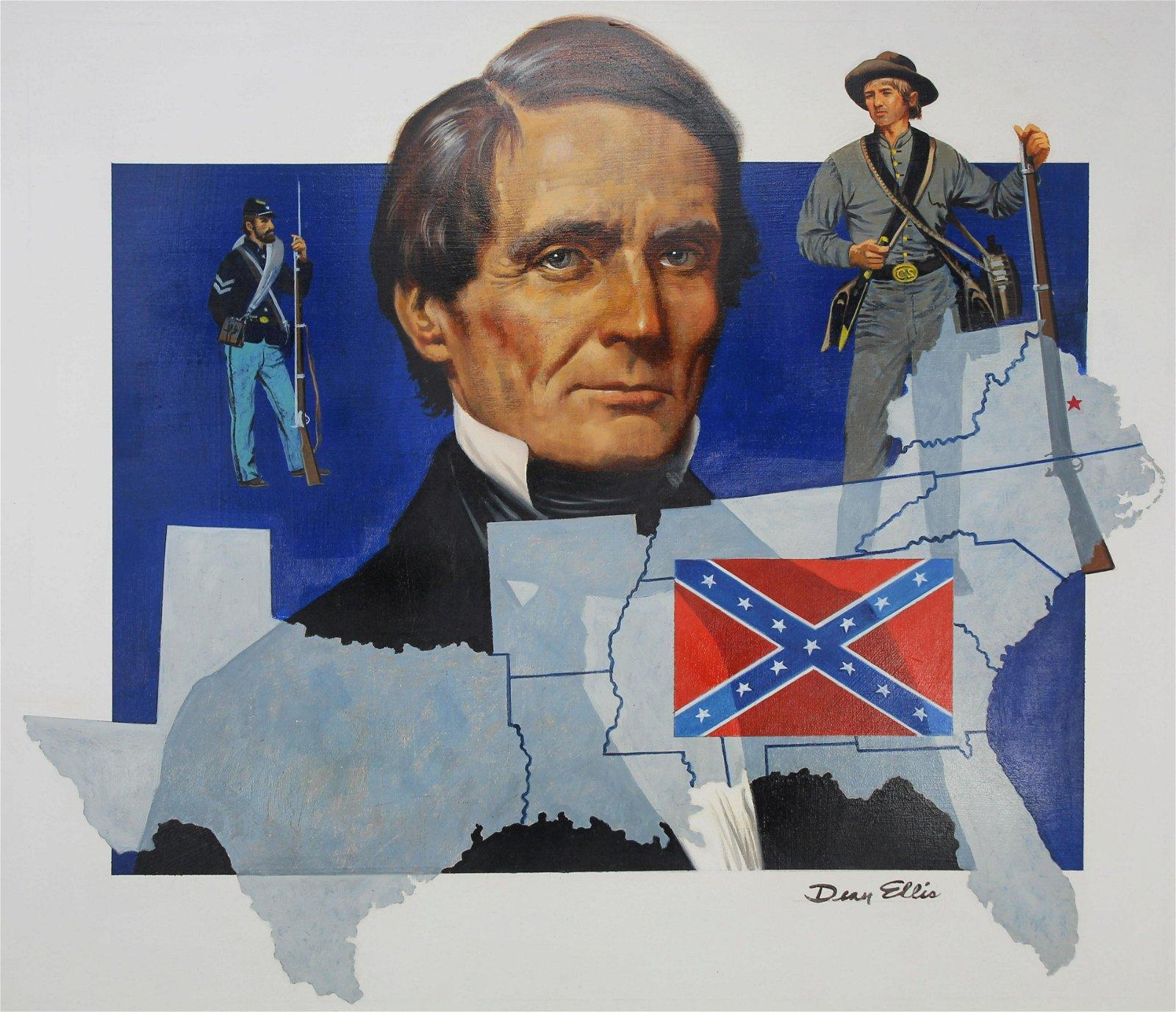 "Dean Ellis (1920 - 2009) ""Jefferson Davis"""