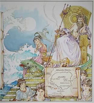 Gabriele Nenzioni 20th C Atlantis Illustration