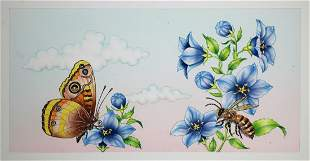 Rosiland Solomon 20th C Butterfly Airbrush