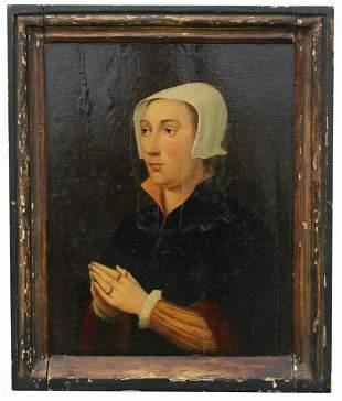 Exceptional 17th C. Dutch Portrait of a Woman