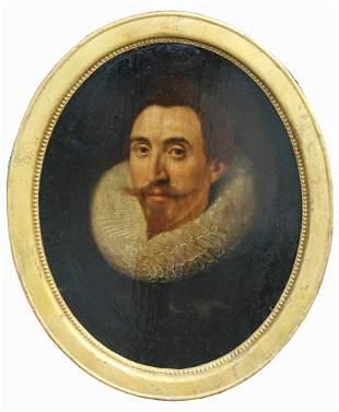 th C. Flemish School Portrait of a Gentleman