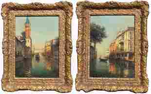 (2) Oliver D. Grover (1861-1927) Venice Paintings
