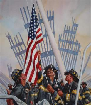 "Tom McNeely (B. 1935) ""9/11 Fireman"""