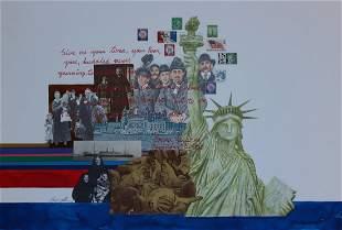 "Chris Calle (B. 1961) ""Statue of Liberty"""