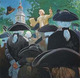 Jim Butcher (B. 1944) Declaration of Independence