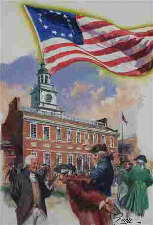 "Dennis Lyall (B. 1946) ""Francis Hopkinson Flag"""
