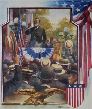 Dennis Lyall (B. 1946) 1888 Presidential Campaign