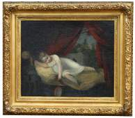 19th C European School Painting of Young Figure