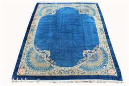 Chinese Antique Peking Peacock Form Rug