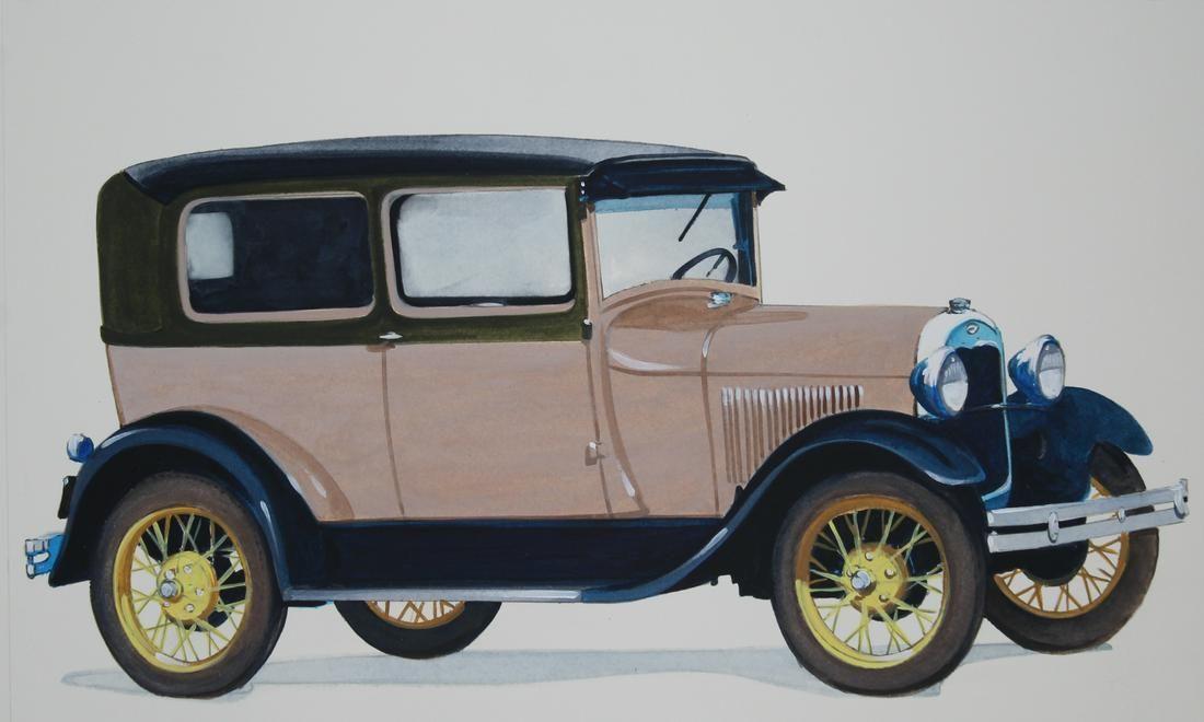 Robert Seabeck (B. 1945) 1928 Model a Tudor Sedan