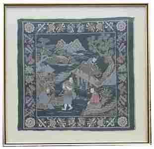 Chinese Republic Period Framed Embroidery
