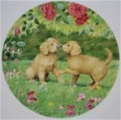 "Peter Barrett (B. 1935) ""Puppy Love"""