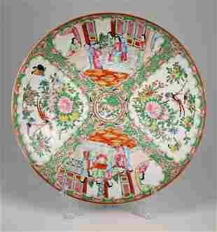 Antique Chinese Rose Medallion Porcelain Dish