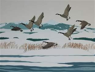 Bernard Scott 20th C Dusky Canadian Geese