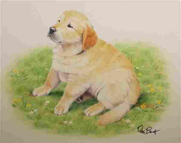 "Peter Barrett (British, B. 1935) ""Puppy Life"""