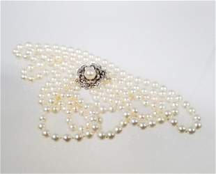 14 WG 68 mm Cultured Pearl 3Strand Necklace