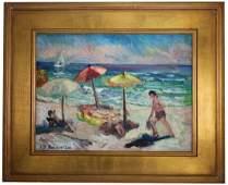 Alice Doughten (1880 - 1969) Atlantic City Beach