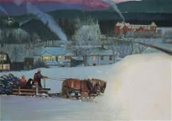 Jim Butcher (B. 1944) Bringing the Christmas Tree