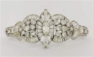 Exceptional Geometric Diamond Bracelet