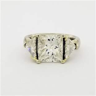 4.6ctw Diamond 14k White Gold Engagement Ring