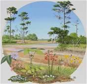 "Chuck Ripper (B. 1929) ""Marshland Flowers"""