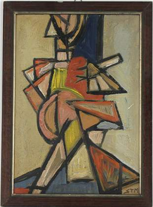 Initialed, 20th C. European School Abstract