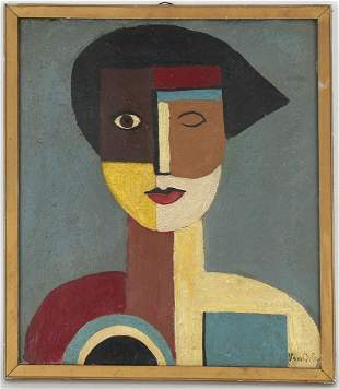 Signed 'Van Orley' Female Cubist Painting
