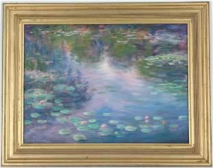 Tom Sadler (American, 20/21st C) Lily Pond