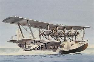 "Colin Ashford (20th C.) ""Seaplane"""