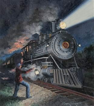 """J. Craig Thorpe (B. 1948) """"Mississippi Locomotive"""""""