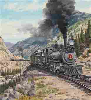 "J. Craig Thorpe (B. 1948) ""Colorado Locomotive"""