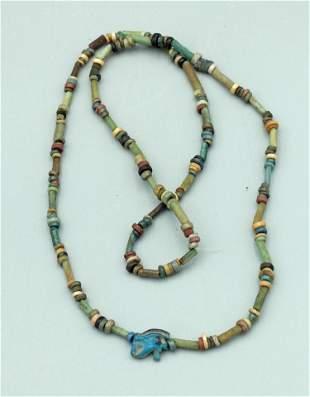 Egyptian Faience Bead Necklace, ca. 664 - 332 BC