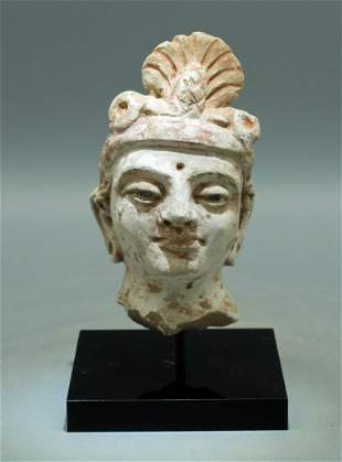 Gandharan Stucco Head - Indus Valley, 4th-5th C